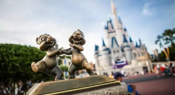 Chip and Dale Cinderella Castle