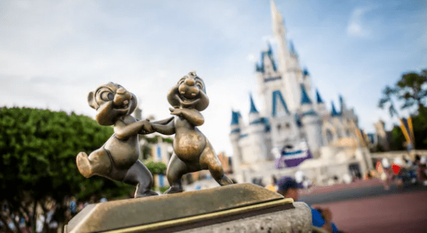 Chip and Dale Cinderella Castle