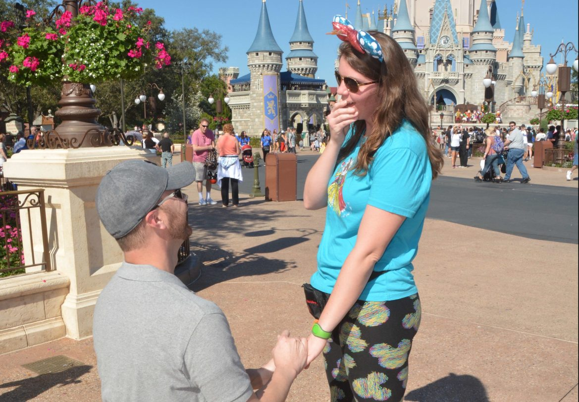 Disney PhotoPass Photographers Help This Groom to Be Create a Magical Proposal