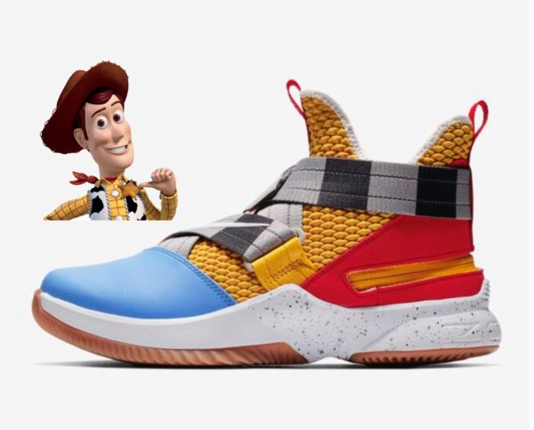 68904b34cd5 ... top Nikes on the market that look oddly similar to our favorite cowboy  from Toy Story. The new LeBron Soldier XII FlyEase men s basketball shoes  feature ...
