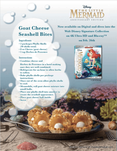 "Disney Recipe Celebrates 30th Anniversary of ""The Little Mermaid"" 1"