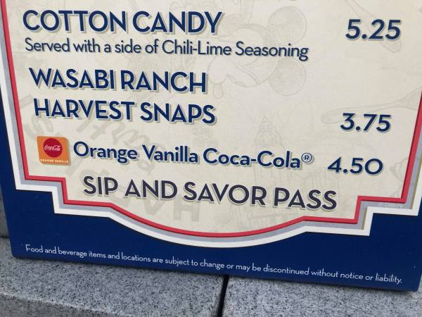 Orange Vanilla Coca Cola Spotted at California Adventure