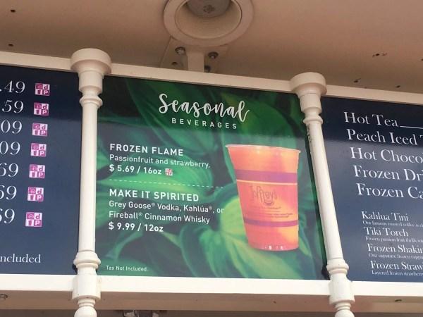 New Seasonal Drinks at Joffrey's Kiosk in Epcot