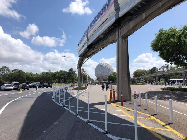 Parking Lot Changes Happening at Epcot Now