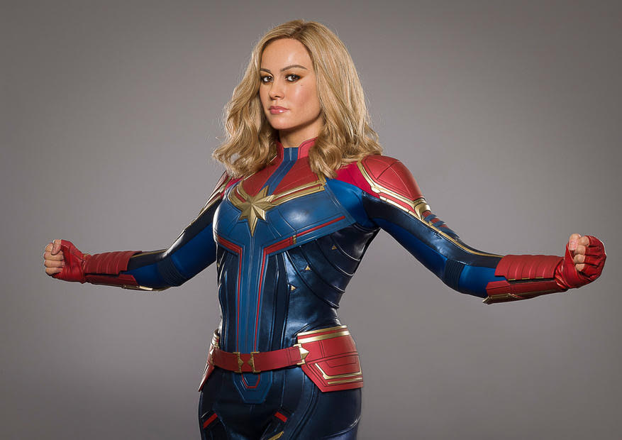 Brie Larson as Captain Marvel Added to Madame Tussauds New York