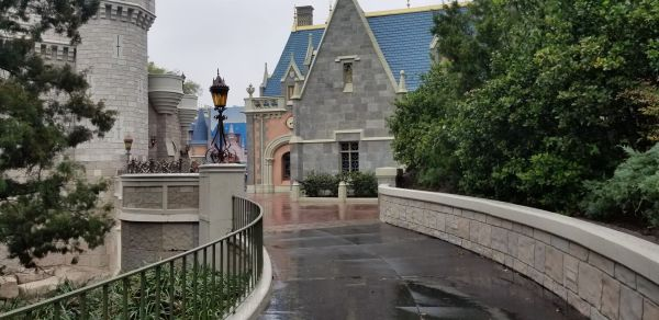 Construction Widening Magic Kingdom Pathway Leading From Cinderella's Castle To Tomorrowland Completed 3