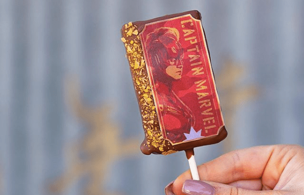 Captain Marvel Treats At The Ganachery At Disney Springs