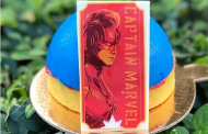 Captain Marvel Blue Raspberry Dome Dessert at Disney's All-Star Movies Resort