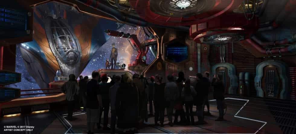 Permits Have Been Filed For Projection Screens At Guardians Of The Galaxy Coaster