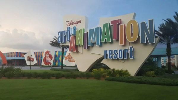Disney's Art of Animation Resort is Replacing the Lobby Floor.