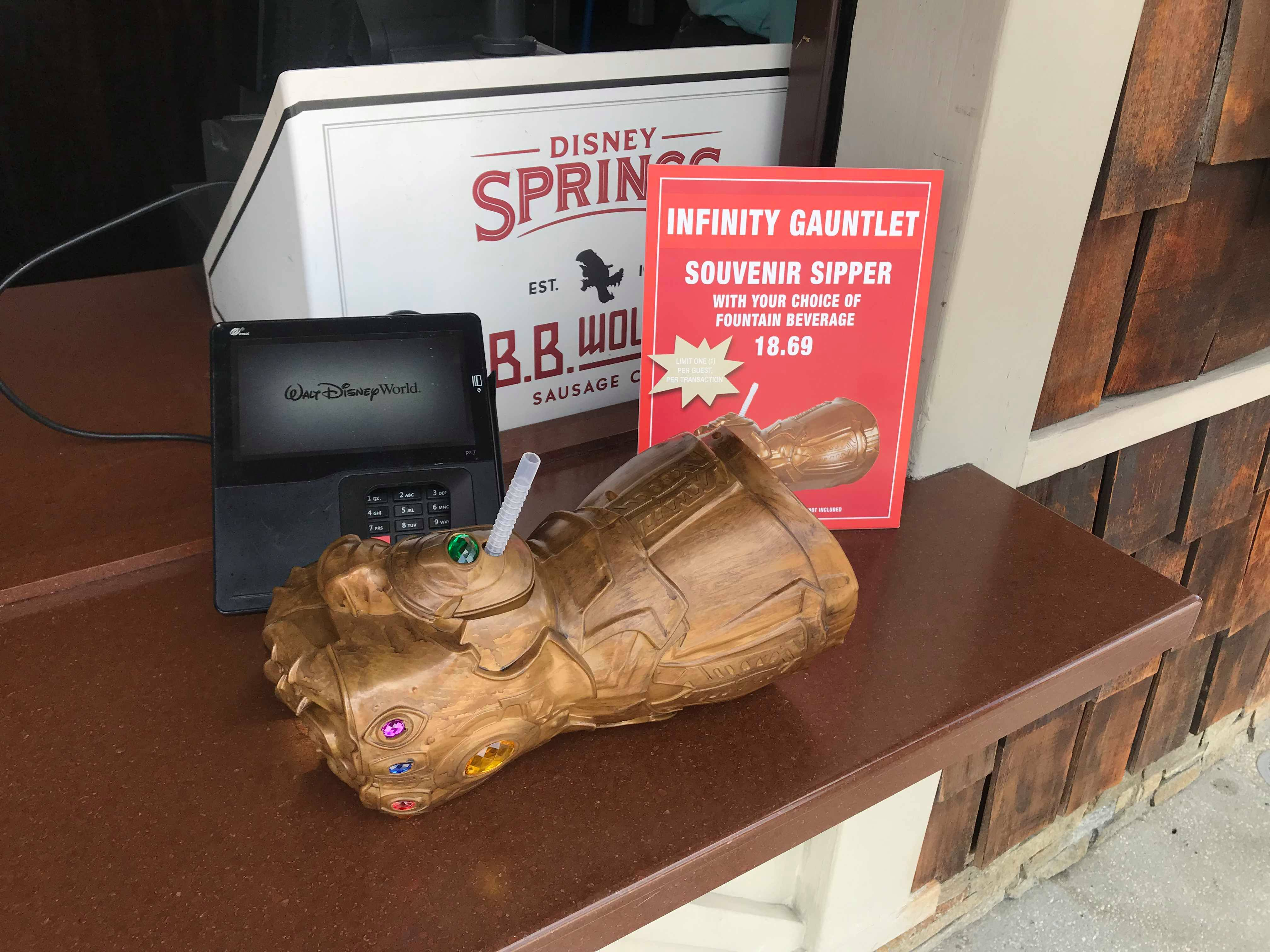 Back Thanos Infinity Bb Gauntlet Disney Springs At The Wolf In Is Sipper u13cTlFKJ