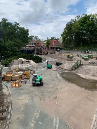 New Photos of the Moat Construction at Walt Disney World 4