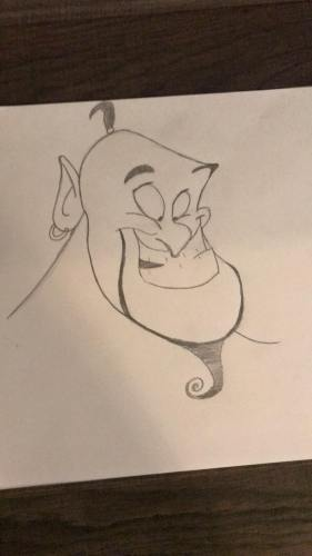 Rate Our Writers Attempt at Drawing Genie from Disney's Aladdin 3