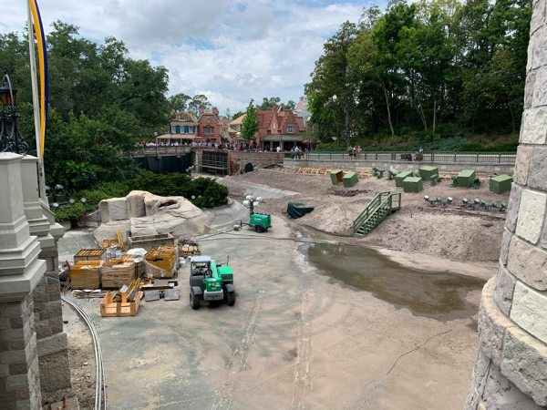 New Photos of the Moat Construction at Walt Disney World 2