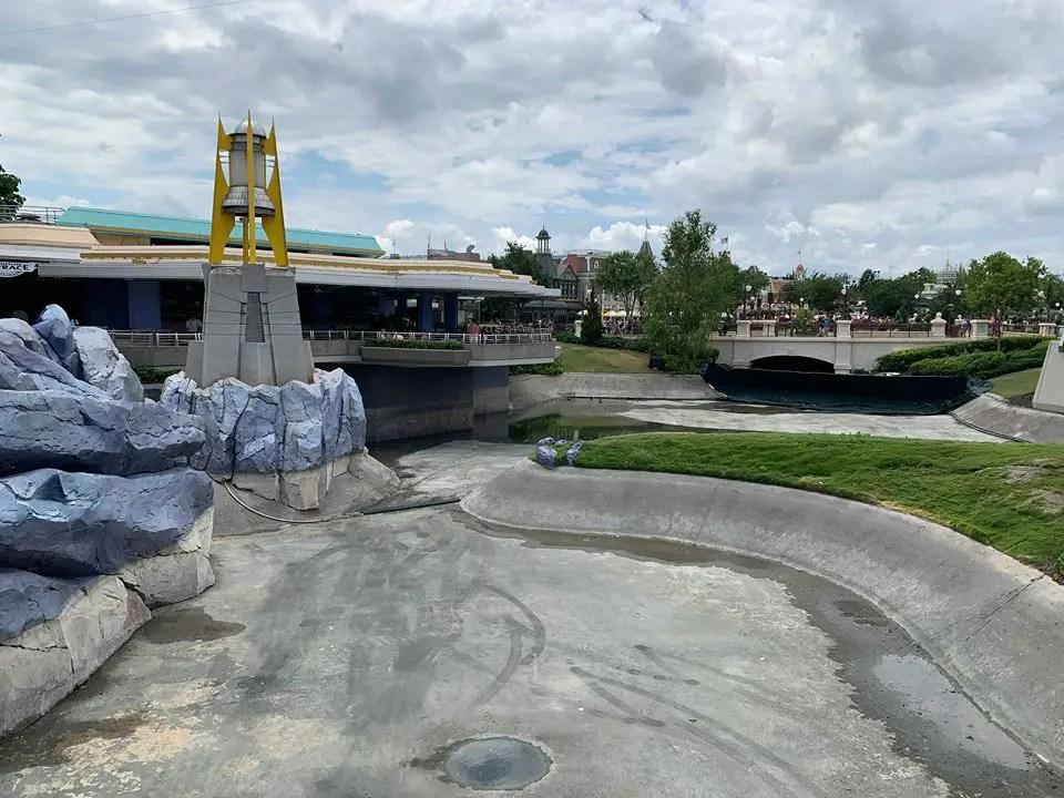 New Photos of the Moat Construction at Walt Disney World