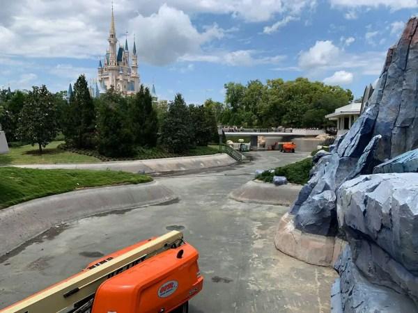 New Photos of the Moat Construction at Walt Disney World 1