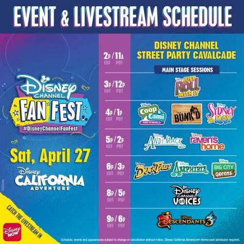 Watch the Disney Channel Fan Fest Streaming on DisneyNOW App.