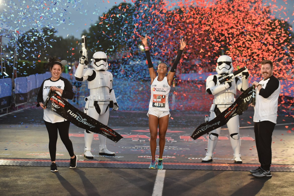The Force was strong with the Brazilian runners Sunday at Star WarsRival Run Half Marathon