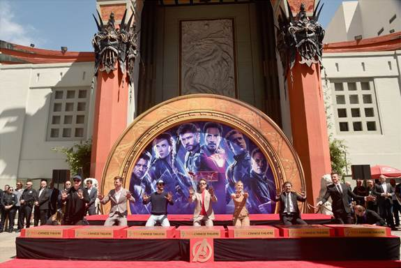 """MARVEL STUDIOS AVENGERS: ENDGAME"""" STARS PLACE HANDPRINTS IN CEMENT AT TCL CHINESE THEATRE 2"""