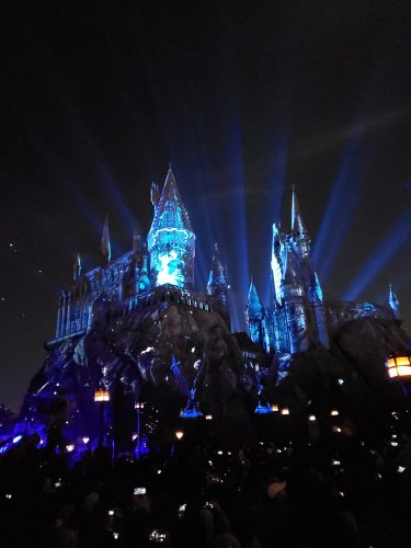 Watch the Dark Arts Castle Light Show at Universal Hollywood 1