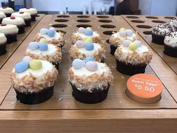 Sprinkles Easter Candy Series Cupcakes at Disney Resorts.
