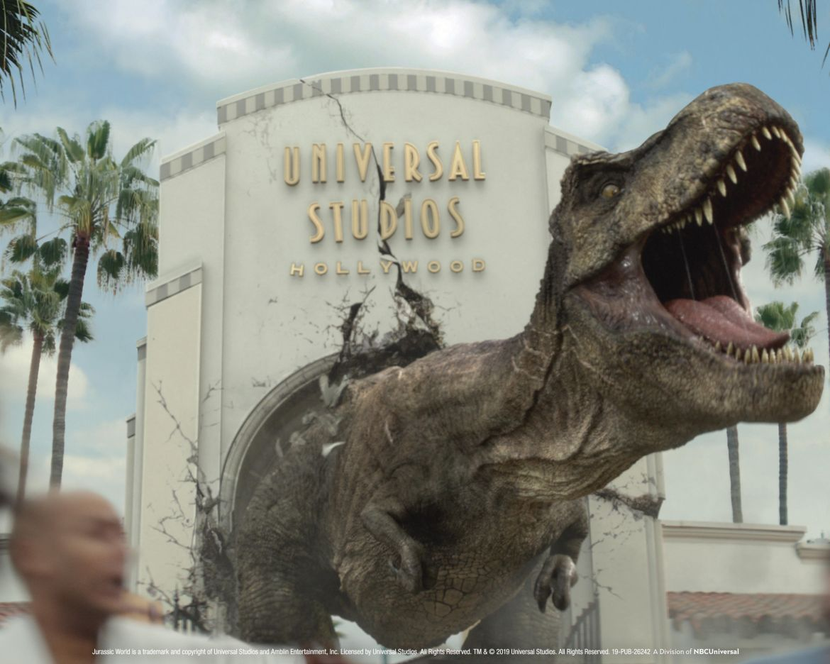 Jurassic World Dinosaurs Take Over Universal Studios Hollywood