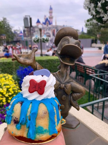 Donald Duck's Lemon Blueberry Bundt Cake available now at Disneyland Park 2