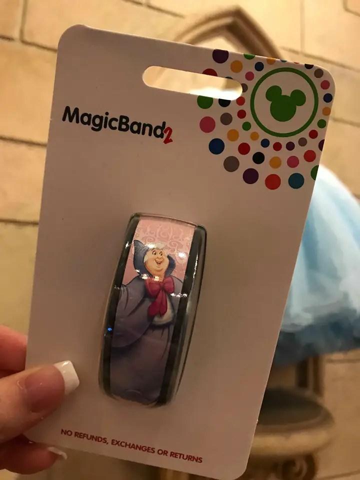 2019 Disney Parks Magic Band Bibbidi Bobbidi Boutique Fairy Godmother Cinderella