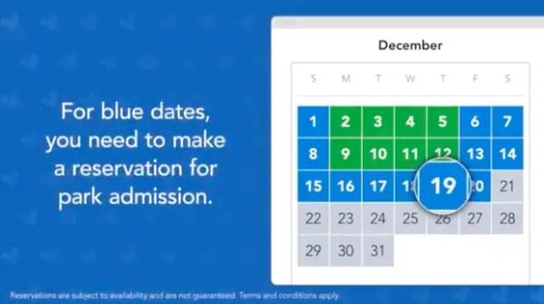 Flex pass blue date calendar