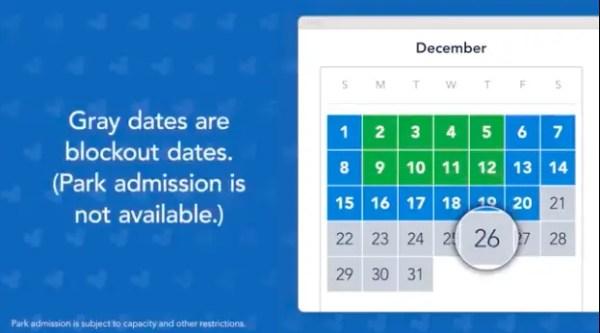 Flex pass grey no go date calendar