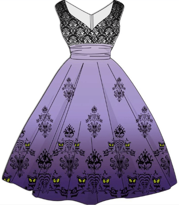 50th Anniversary Haunted Mansion Dress and Mouse Ears 2