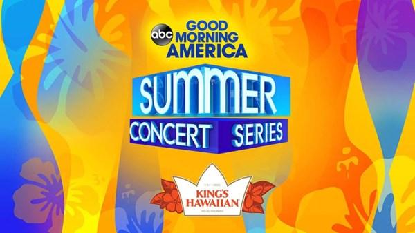 """Good Morning America"" 2019 Summer Concert Series Lineup"