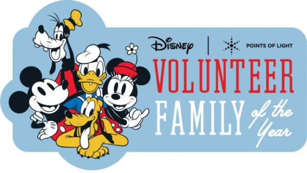 Disney and Points of Light Volunteer Family of the Year!