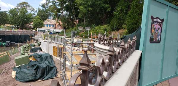More New Photos of the Moat Construction at the Magic Kingdom