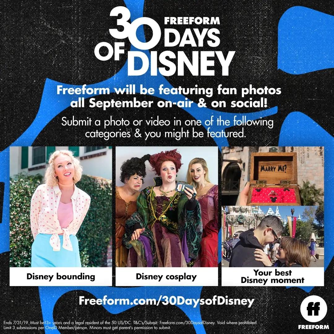 "Freeform's ""30 Days of Disney"" Fan Photo Contest"