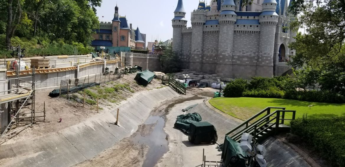 New Updates of the Castle and Moat Construction at WDW