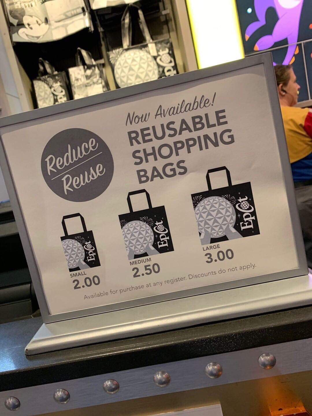 Increased Prices of WDW Reusable Totes
