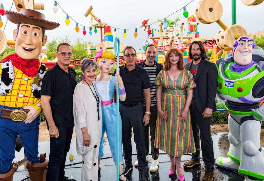 Creators and Stars of Toy Story 4 Visit WDW