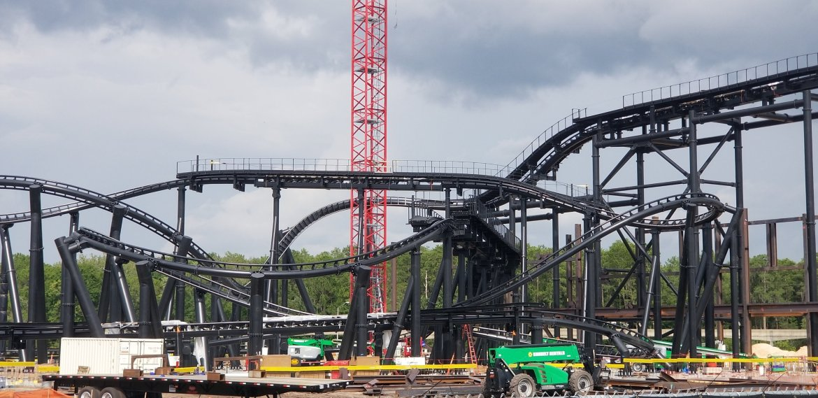 Tron Coaster at Magic Kingdom is Coming Along