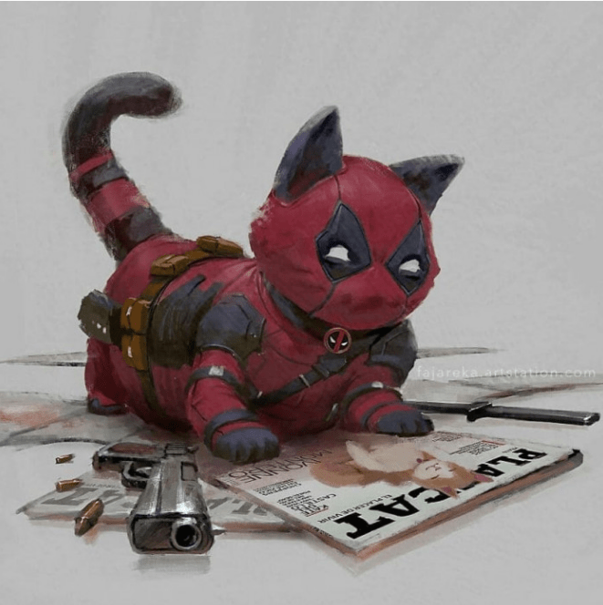 Artist Reimagines Marvel Superheroes as Cats!