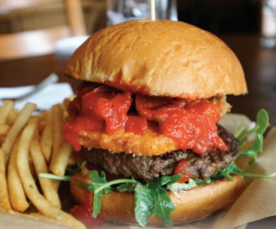 Catal Restaurant Pepperoni Pizza Burger