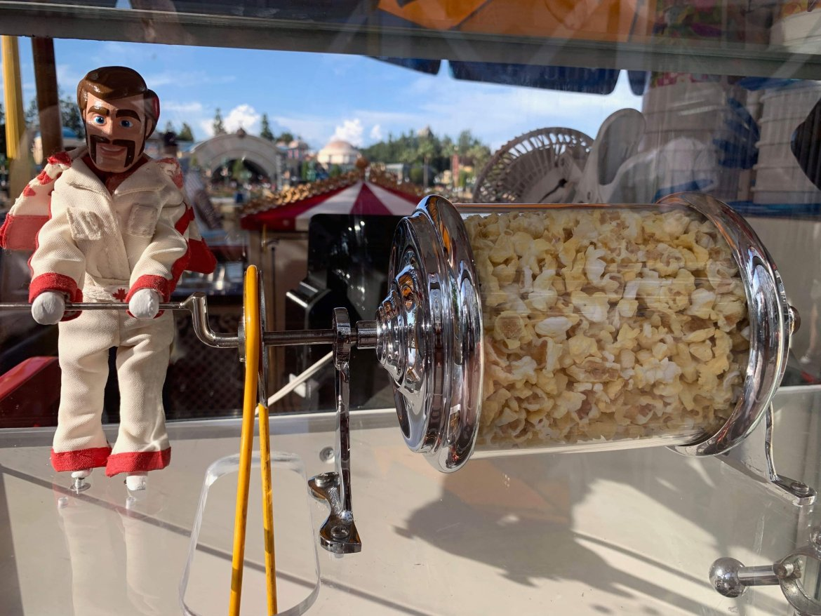 Duke Caboom Debuts as Newest Popcorn Roaster in Disney's California Adventure Park