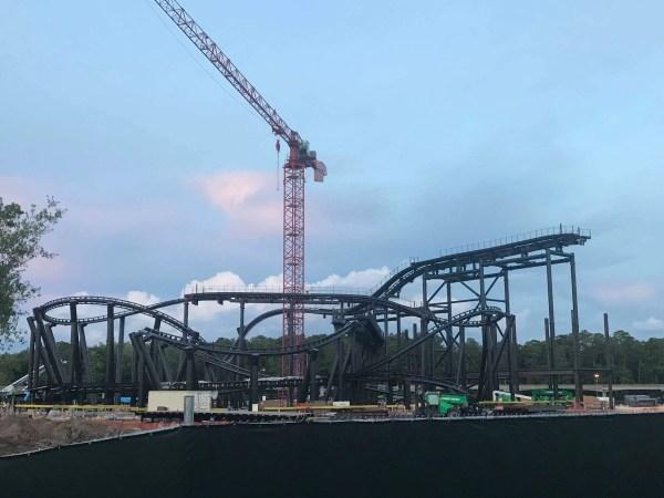 CONSTRUCTION UPDATE: TRON Coaster in Magic Kingdom 6