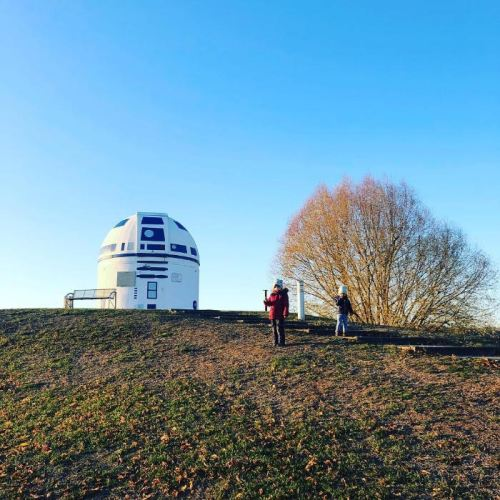 Mega Star Wars Fan and German Professor Paints Observatory Like R2-D2 12