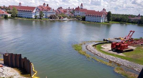 The Walkway Between the Magic Kingdom and Grand Floridian is Underway