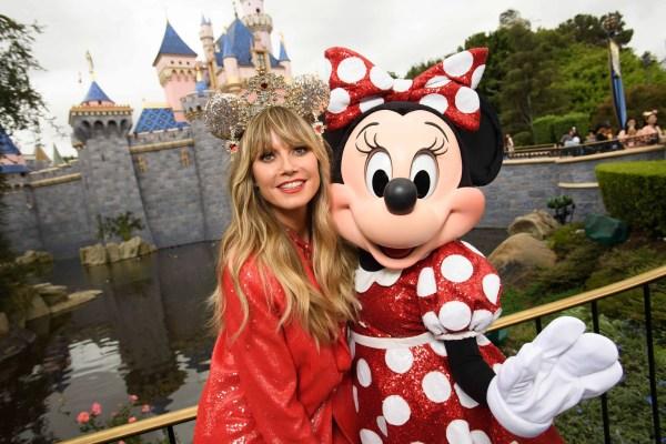 Heidi Klum debuts her Designer Minnie Mouse Ears at Disneyland 1