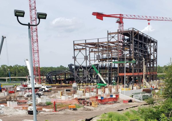 Tron Coaster Construction Update from the Magic Kingdom 2