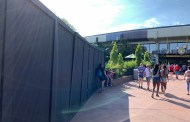 Photos: Epcot Construction Walls Have Gone Up For Newly Revised Epcot