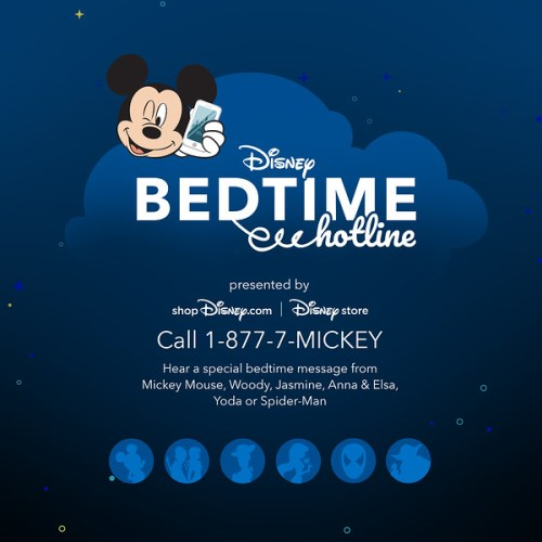 Disney's introduces the Bedtime Hotline for a limited time 1