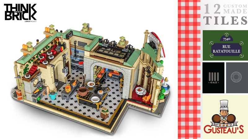 LEGO Ideas: Ratatouille LEGO Set, Inspired By Gusteau's Restaurant 2